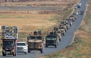 فیلم/ لحظه هدف قرار گرفتن کامیون ارتش آمریکا