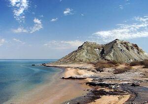 ساحل زیبای جزیره هرمز