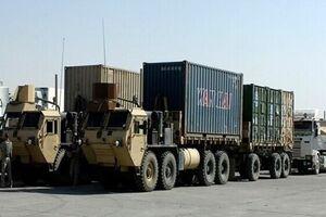 کاروان لجستیک نظامیان آمریکا در عراق هدف قرار گرفت