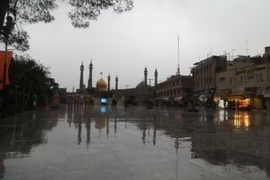عکس/ حال و هوای بارانی قم