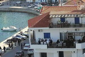 عکس/ حضور نخستوزیر یونان در یک ضیافت جنجالی