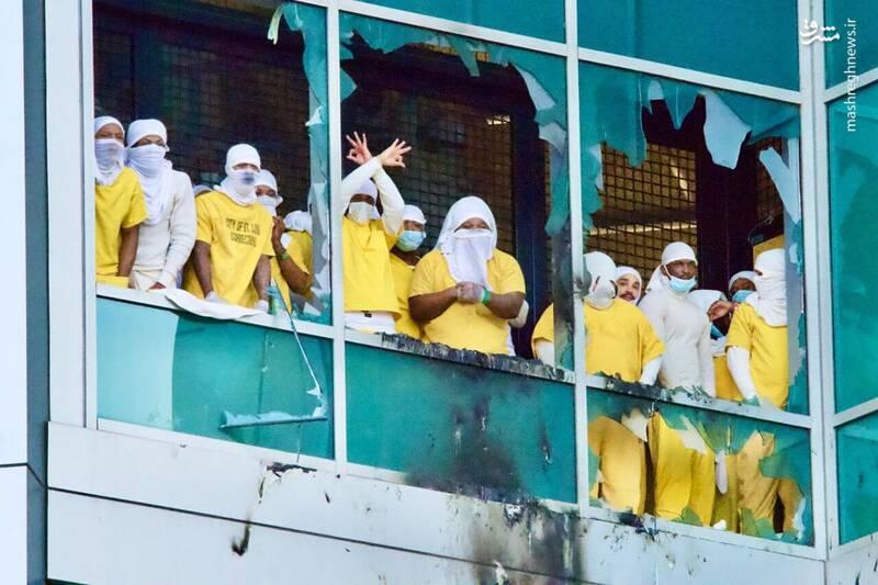 شورش در زندان سنت لوییس آمریکا علیه شرایط کرونایی +فیلم