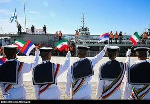 مانور نظامی-دریایی مشترک ایران و روسیه در اقیانوس هند