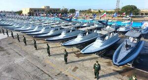 عکس/ الحاق ۳۴۰ فروند شناور به سازمان رزم نیروی دریایی سپاه