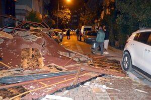 عکس/ تخریب سقف خانهها براثر طوفان در ترکیه