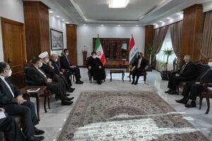 عکس/ دیدار رئیس قوه قضائیه با رئیس شورای عالی قضایی عراق