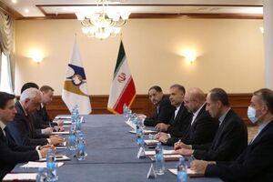 عکس/ نشست قالیباف با دبیر کل اتحادیه اقتصادی اوراسیا