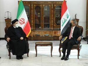 دیدار  آیت الله رئیسی  با رئیس شورای عالی قضایی عراق