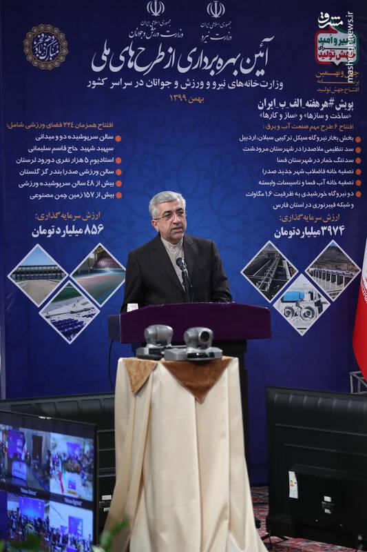 افتتاح طرحهای ملی وزارتخانه های نیرو و ورزش و جوانان در سراسر کشور