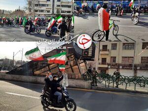 عکس/ آغاز راهپیمایی نمادین موتوری ۲۲ بهمن