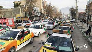 عکس/ راهپیمایی پرشور مردم کرمانشاه در جشن انقلاب