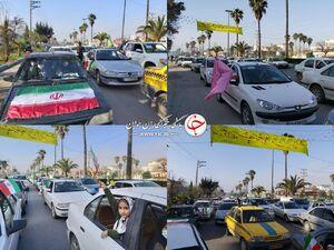 عکس/ راهپیمایی خودرویی و موتوری در مازندران