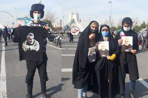 عکس/ راهپیمایی متفاوت به یاد سردار شهید سلیمانی