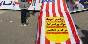 تابوت ترامپ در مسیر راهپیمایی ۲۲ بهمن +عکس
