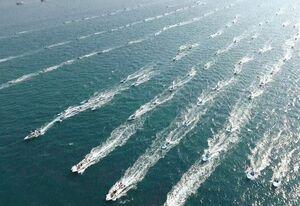 فیلم/ رژه شناورهای دریایی در ۲۲ بهمن متفاوت