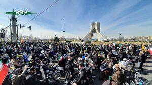 عکس/ حضور گسترده مردم تهران در میدان آزادی