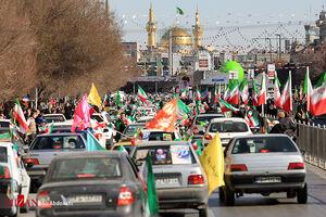 عکس/ راهپیمایی خودرویی و موتوری در مشهد