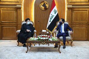 دیدار آیت الله رئیسی با رئیس مجلس عراق
