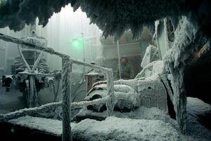 عکس/ دکلهای نفتی یخ زده در سیبری