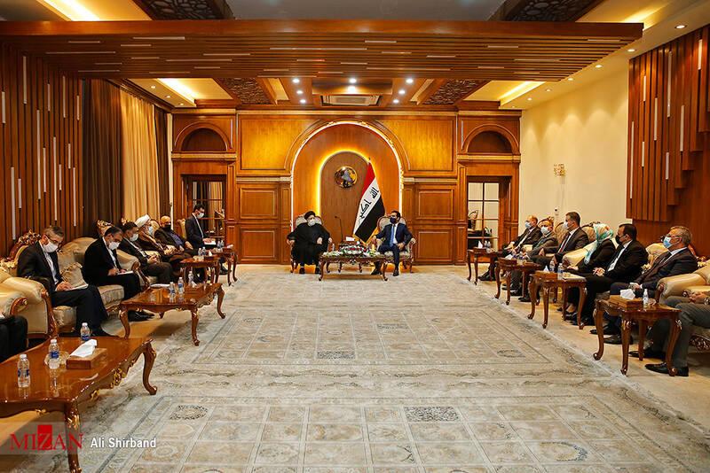 آیت الله رئیسی:مناسبات ایران و عراق باید توسعه پیدا کند/الحلبوسی: عراق از تقویت روابط خود با ایران بیش از پیش استقبال میکند