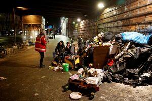 تصویری از بی خانمان ها در «برلین»