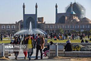 وضعیت شلوغ مرکز شهر اصفهان