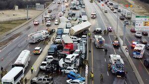 عکس/ تصادف زنجیرهای مرگبار در  تگزاس