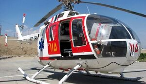 سقوط بالگرد اورژانس در فرودگاه ایلام