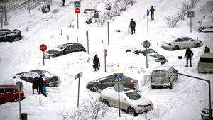 عکس/ رکورد بارش برف در مسکو