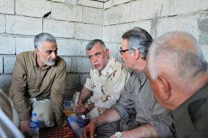عکس/حضور سردار سلیمانی در کنار معاون حشدالشعبی
