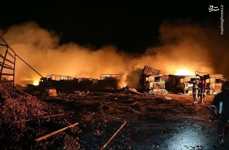 آتش گسترده در گمرک اسلام قلعه چگونه مهار شد؟+عکس