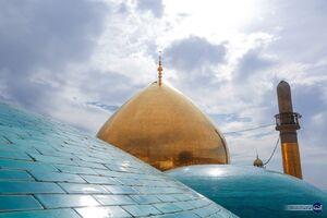 تصویری زیبا از گنبد حرمین عسکریین(ع)