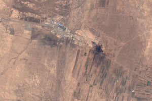 تصویر ماهوارهای از محل انفجار در گمرک افغانستان