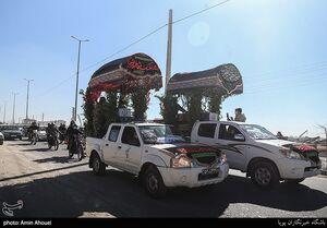 عکس/ تشییع خودرویی دو شهید گمنام در پردیس