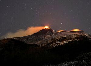 عکس/ آتشفشان اتنا فوران کرد