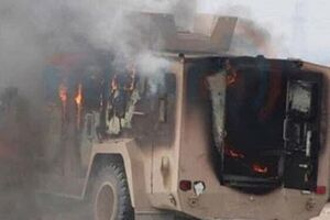 فیلم/ حمله به کاروان لجستیک آمریکایی در عراق