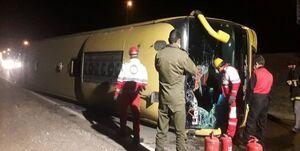 واژگونی اتوبوس اسکانیا در لرستان