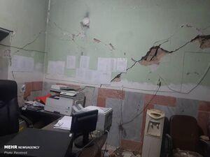 تصاویری از خسارات زلزله ۵.۶ ریشتری در سیسخت