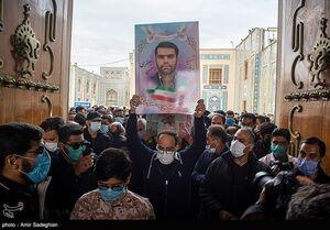عکس/ تشییع شهید مدافع امنیت در حرم شاهچراغ(ع)