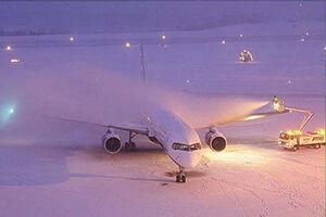 فیلم/ زمینگیر شدن هواپیماها در فرودگاه اَمان!