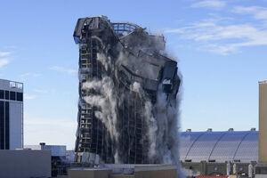 تخریب برج ترامپ در آتلانتیک سیتی