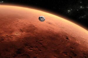 گذرگاه ماه از مقابل مریخ! +فیلم