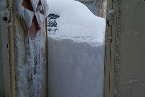 عکس/ بارش شدید برف در شرق استان لرستان