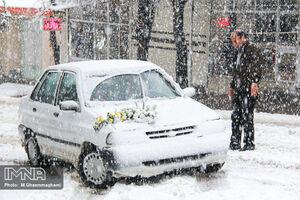 عکس/ بارش برف در سمیرم