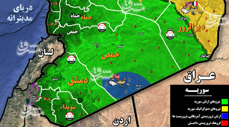 در مناطقی جنوبی سوریه چه میگذرد؟ / پروژه مشترک گروههای مسلح و صهیونیستها با افزایش ناامنیها در درعا + نقشه میدانی و عکس