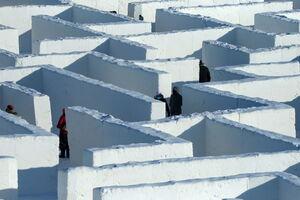عکس/ هزارتوی برفی در کانادا