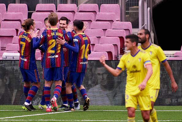 فیلم/ خلاصه بازی بارسلونا ۱-۱ کادیز