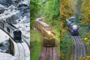 عکس/ مسیر راهآهن مازندران در سه فصل مختلف