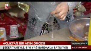 فیلم/ فروش لیوانی روغن در ترکیه!