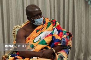 لباس عجیب سفیر غنا در دیدار با روحانی